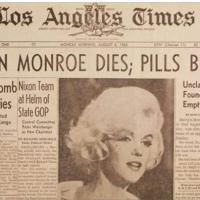 Marilyn Monroe, mort d'une star, naissance d'une icône.